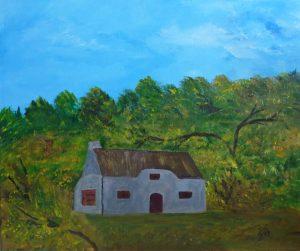 L'auberge abandonnée, Kyna de Schouel artiste peintre