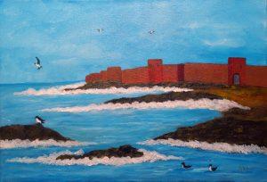 Muraille de mer, art abstrait, Kyna de Schouël artiste peintre