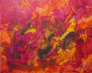 Flamenco, art abstrait, Kyna de Schouël artiste peintre
