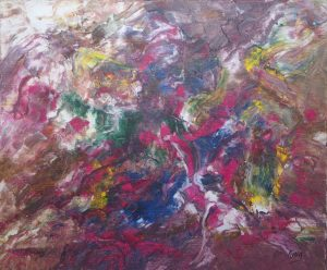 Visages, art abstrait, Kyna de Schouël artiste peintre