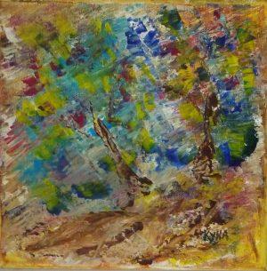 Campagne, peinture abstraite, Kyna de Schouël artiste peintre