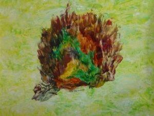 La bataille fantastique, peinture abstraite, Kyna de Schouël artiste peintre