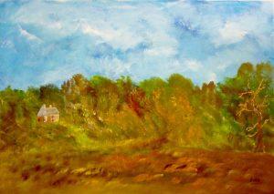La forêt fantastique, Kyna de Schouël artiste peintre