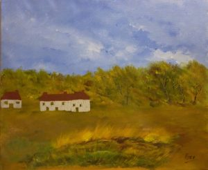 Ruine, Kyna de Schouël artiste peintre
