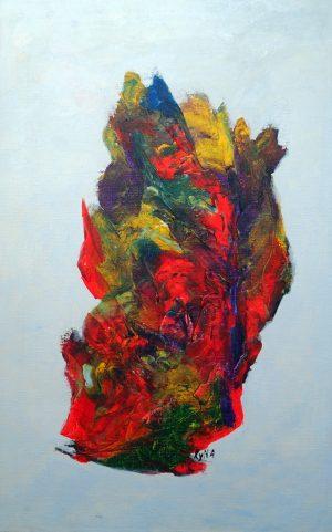 Etna, art abstrait, Kyna de Schouël artiste peintre