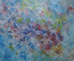 Eveil du printemps, art abstrait, Kyna de Schouël artiste peintre