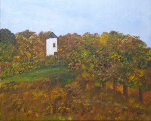 Le moulin abandonné, Kyna de Schouël artiste peintre