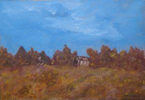 Petite maison dans les bois, Kyna de Schouël artiste peintre
