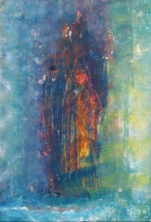 Epuisement de Kurosawa, peinture abstraite, Kyna de Schouël artiste peintre