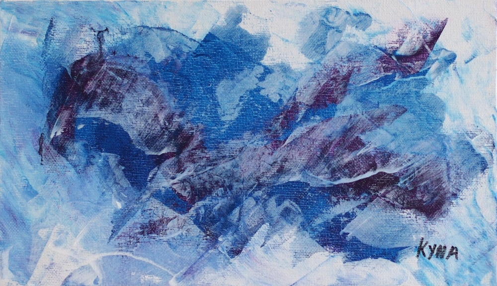 Le Phénix, art abstrait, Kyna de Schouël artiste peintre